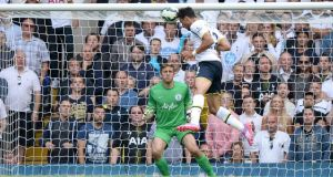 Tottenham Hotspur's Nacer Chadli scores his second and his side's third against QPR at White Hart Lane. Photograph: Andrew Matthews/PA Wire