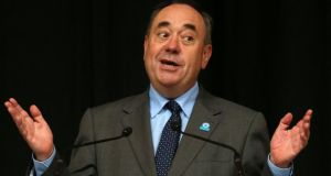 Alex Salmond:  the No side believes the first minister has failed to answer questions about currency, pensions and welfare, oil and a host of other issues. Photograph: Andrew Milligan/PA Wire