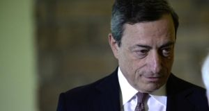 "Mario Draghi, president of the European Central Bank, used last week's high-profile central banking conference in Jackson Hole, Wyoming, to warn that investor bets on prices have ""exhibited significant declines"".  Photograph: Bradly Boner/Bloomberg"