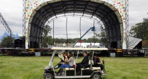 The Electric Picnic is starting to take shape.  Photograph: Matt Kavanagh