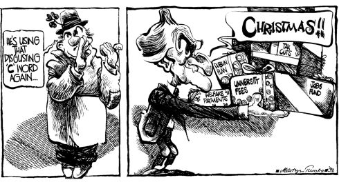 Martyn Turner cartoon of Albert Reynolds, 1992