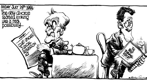 Martyn Turner cartoon of Albert Reynolds, 1994