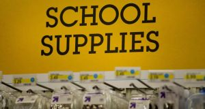 It's time for wallet- and purse-purging exercises in providing all those materials needed for the new school year. Photograph: David Paul Morris/Bloomberg