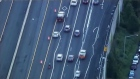 Road crews have fixed crooked lane stripes on an interstate in Virginia that caused a commuter nightmare yesterday. Officials say it was caused by temporary tape striping that pulled away from the road surface. Video: Reuters