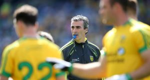 "Donegal manager Jim McGuinness: ""We'll need to be on our toes from the first minute against Dublin. We'll need to implement our own game plan from the very first minute."""