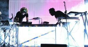 SBTRKT on stage at the Electric Picnic.  Photograph: Dave Meehan