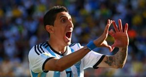Angel di Maria of Argentina has joined Manchester United from Real Madrid in a  deal worth €75m.  Photograph: Julian Finney/Getty Images