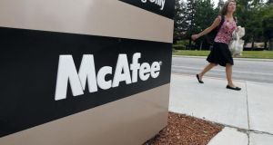 McAfee  and frequently sends complex security problems to its Cork site for resolution, McAfee  Chief Information Officer Patty Hatter has said. Photo: Bloomberg