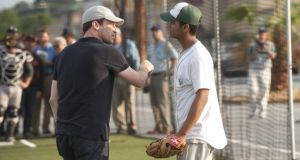 Jon Hamm with Madhur Mittal in Million Dollar Arm