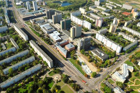 Halle-Neustadt from the air. 'It was a development that just worked from the beginning,' said a member of the city's planning department. Photograph: Derek Scally/The Irish Times