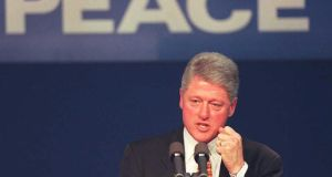 "'Bill Clinton's focus on ""commercial diplomacy"" gave an important boost to the peace process. Suddenly, people could feel the benefits of peace.' Photograph:    Paul Richards/AFP/Getty Images"