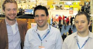 Digifeye co-founders  Bobby Pringle, Dr Mark Hughes and Dr Oisín Mac Fhearaí