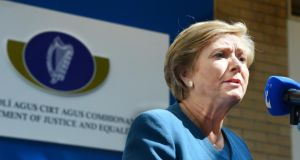 Minister for Justice Frances Fitzgerald: her department is working  on wording of the amendment. Photograph: Cyril Byrne / The Irish Times