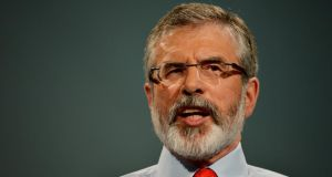 Sinn Féin leader Gerry Adams has accused the Government of being 'too passive' on the peace process.  Photograph: Alan Betson /The Irish Times