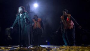 Kate Bush performing her Before the Dawn concert at the Hammersmith Apollo in west London. Photograph: PA