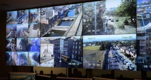 The Dublin City Centre traffic management and incident centre, a sort of mission control room for the city's traffic. Photograph: Bryan O'Brien