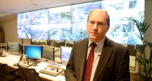 Head of Dublin City Council's environmental and transportation department Brendan O'Brien in the traffic management centre. Photograph: Bryan O'Brien