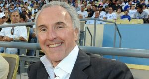 Irish-American property and sports billionaire Frank McCourt at a Los Angeles Dodgers game. Photograph: Jon SooHoo/LA Dodgers