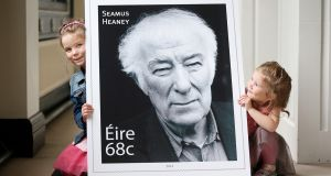 The stamp commemorating the late Séamus Heaney was launched today by An Post.