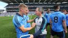 "While impressed by Sunday's All-Ireland SFC semi-final opponents Donegal, Dublin manager Jim Gavin (right) notes: ""Most of our work over the past two weeks has been on how we're going to play our game"". Photograph: Cathal Noonan/Inpho"