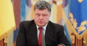 "Ukrainian president Petro Poroshenko, speaking yesterday in Kiev after the army lost a key town to separatists, said the situation in the conflict zone in the east was ""extraordinarily difficult . . . but controllable""."