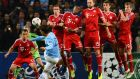 David Silva of Manchester City takes a free kick during the Champions League clash against Bayern Munich at the Etihad Stadium last October. Photograph: Laurence Griffiths/Getty
