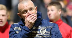 Leeds United have sacked manager David Hockaday after six games in charge.  Photograph: Lynne Cameron/PA Wire