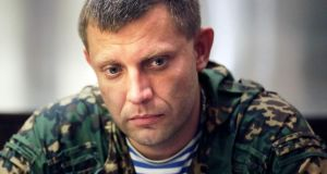 Rebel chief Alexander Zakharchenko:  said  Russians fighting alongside separatists included many high-ranking former military officers and soldiers on holiday, and were  not part of an invading army. Photograph: Max Vetrov/AP