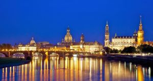 Dresden at night. Photograph: Derek Scally/The Irish Times