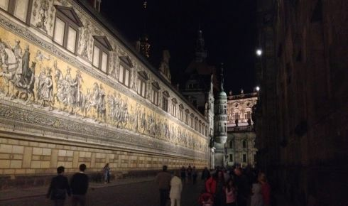 Another view of Dresden at night time. Photograph: Derek Scally/The Irish Times