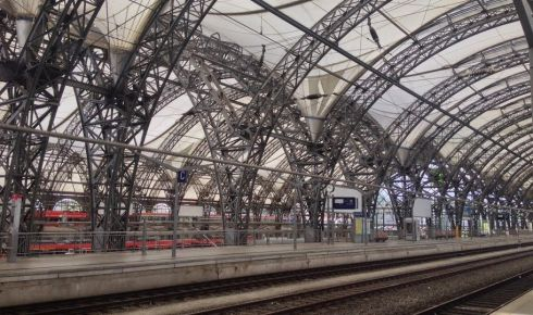 Dresden main train station, fully renovated after the 2002 floods. Photograph: Derek Scally/The Irish Times