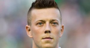 Callum McGregor has signed a new five-year contract with Celtic. Photograph: Jeff Holmes/PA Wire.