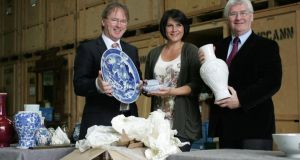Auctioneers Michael (left) and Philip Sheppard with lotting co-ordinator Michelle Brophy