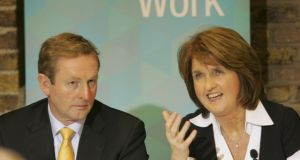 "'Before they went away last month, Taoiseach Enda Kenny and newly-installed Tánaiste Joan Burton pledged to publish a tax reform plan in the coming budget ""to be delivered over a number of budgets"".'  Photograph: Alan Betson / THE IRISH TIMES"