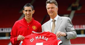 British record signing Angel Di Maria is fit and could make his Manchester United debut away to Burnley on Saturday. Photograph:  Darren Staples/Reuters