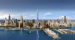 Artist's impression of The Chicago Spire by Santiago Calatrava.