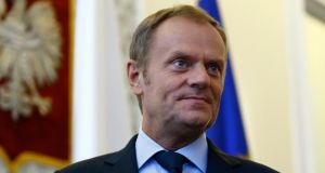 Poland's prime minister Donald Tusk is frontrunner for the EU job. Photograph: Reuters/Kacper Pempel