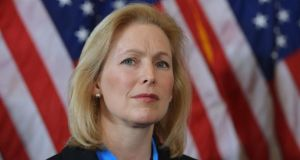 Senator Kirsten Gillibrand: treatment of her in the halls of Capitol Hill shows even the highest offices in the land are not immune from sexual harassment that is common against women elsewhere in American society. Photograph: Mandel Ngan/AFP/Getty Images