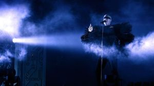 Pet Shop Boys on the Main Stage, Friday,   at Electric Picnic 2014. Photograph: Dave Meehan