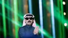 You best not miss: Syrian singer Omar Souleyman. Photograph Daniel Sannum Lauten/AFP/Getty Images)