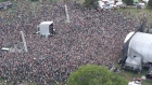 A view from above as Hozier is welcomed home by the biggest crowd of the weekend. Video: Sky Tec Ireland