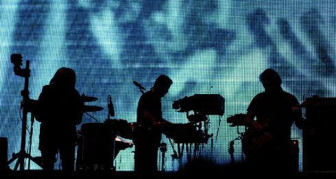 Portishead playing the main stage at Electric Picnic on Saturday night. Photograph: Dave Meehan