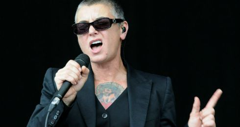 Sinéad O'Connor playing the main stage on Sunday. Photograph: Dave Meehan