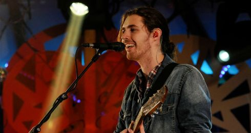Hozier was a surprise guest on the Other Voices stage at Electric Picnic, shortly after his stand-out show on the main stage earlier. Photograph: Dave Meehan