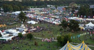 Aerial picture of the Electric Picnic taken by drone on Saturday. Photograph: Sky Tec Ireland