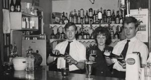Bar staff at the London-Irish centre in the 1960s