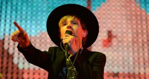 Beck on the main stage at Electric Picnic last night. Photograph: Dave Meehan