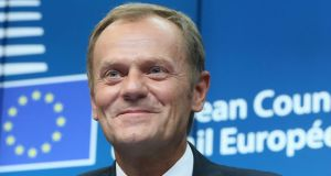 Donald Tusk:  Twenty-five years after the Berlin Wall's fall and 10 years after Poland and a wave of former communist countries joined the EU, the union has appointed its first eastern European leader, one who speaks neither English nor French. Photograph:EPA