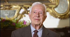 The former US president Jimmy Carter has written to   Enda Kenny and other members of the Oireachtas urging them to back a justice committee recommendation to criminalise the buyers of sex. Photograph: Brenda Fitzsimons/Irish Times