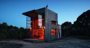 Hut on Sleds on Whangapoua Beach, New Zealand by Crosson Clarke Carnachan